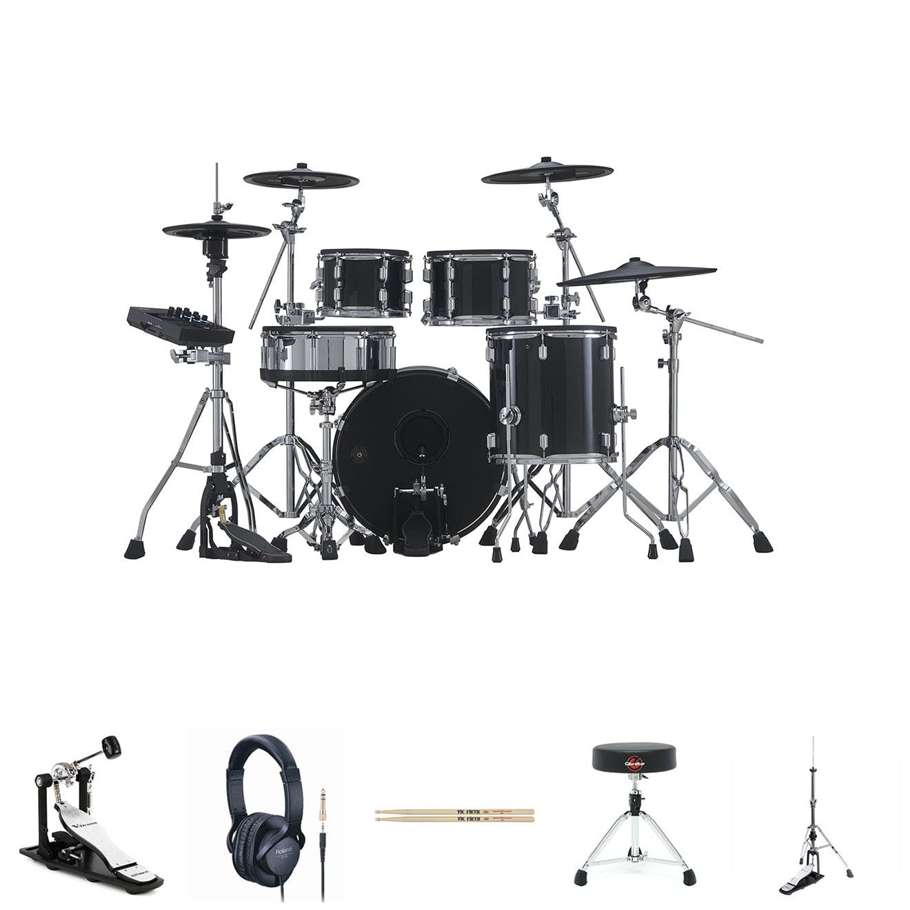 Image for Roland VAD506 w/ Single Pedal, HH Stand, Snare Stand, Sticks, Stool & Headphones from Andertons Music Co.