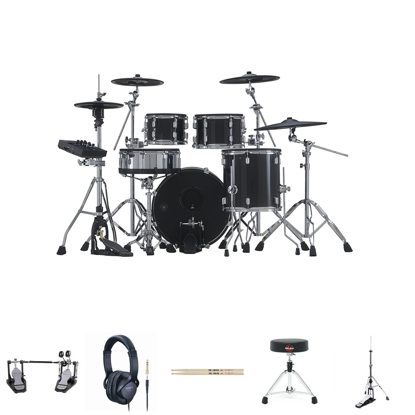 Image for Roland VAD506 w/ Double Pedal, HH Stand, Snare Stand, Sticks, Stool & Headphones from Andertons Music Co.