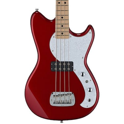 G&L Tribute Fallout Short Scale Bass in Candy Apple Red