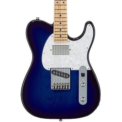 G&L USA Fullerton Deluxe ASAT Classic Bluesboy in Blueburst