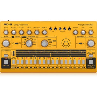 Behringer RD-6-AM Classic Analog Drum Machine in YELLOW