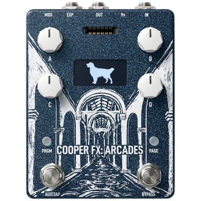 Cooper FX Arcades Multi-Effects Console Pedal with 'Pastiche' Card