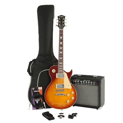 EastCoast GL20 Tobacco Sunburst Electric Guitar Bundle with Amp & Accessories