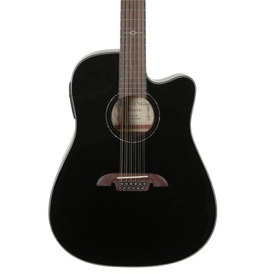 B-Stock Alvarez Artist Dreadnought 12-String  Acoustic Electric w/Cutaway EQ & Tuner in Gloss Black