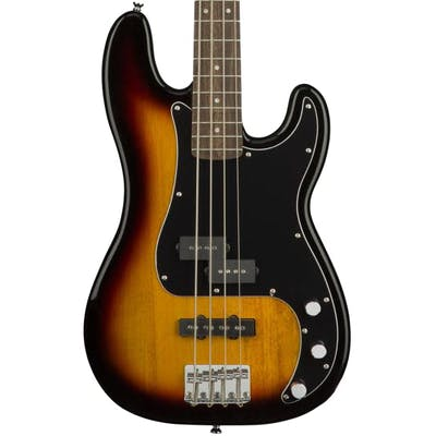 Squier Affinity FSR Precision PJ Bass in 3 Tone Sunburst Bundle with Amp and Accessories