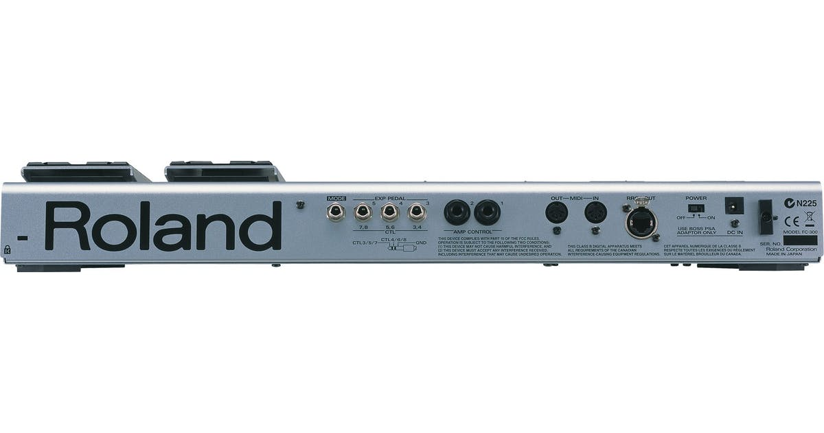 roland fc 300 midi foot controller pedal andertons music co. Black Bedroom Furniture Sets. Home Design Ideas