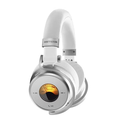 Meters OV-1-B-Connect Over-ear Active Noise Cancelling Bluetooth Headphones in White