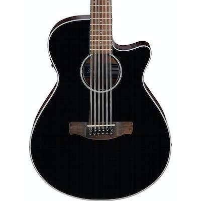 Ibanez AEG5012-BKH AEG Series Acoustic Guitar in Black