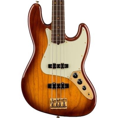 Fender 75th Anniversary Commemorative Jazz Bass in 2-Colour Bourbon Burst