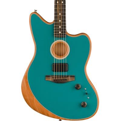 Fender Acoustasonic Jazzmaster Acoustic/Electric Guitar in Ocean Turquoise
