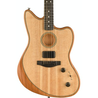 Fender Acoustasonic Jazzmaster Acoustic/Electric Guitar in Natural