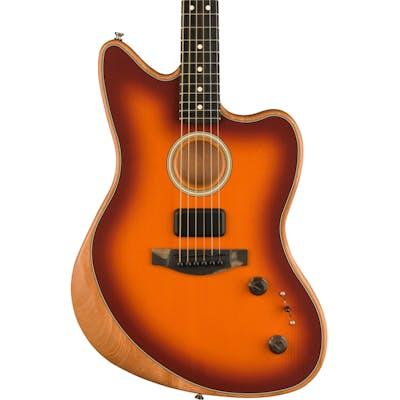Fender Acoustasonic Jazzmaster Acoustic/Electric Guitar in Tobacco Sunburst
