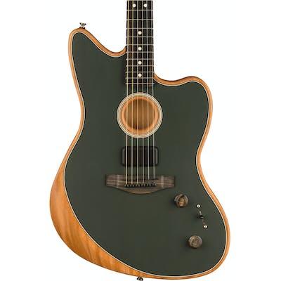 Fender Acoustasonic Jazzmaster Acoustic/Electric Guitar in Tungsten