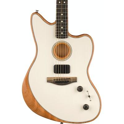Fender Acoustasonic Jazzmaster Acoustic/Electric Guitar in Arctic White