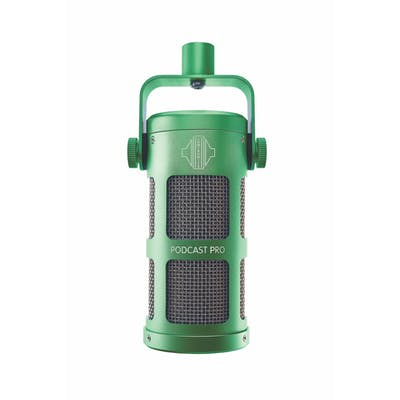 Sontronics Podcast Pro Dynamic Microphone in Green