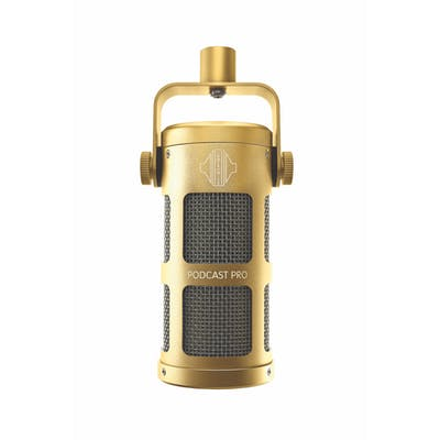 Sontronics Podcast Pro Dynamic Microphone in Gold