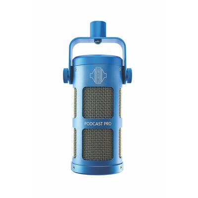 Sontronics Podcast Pro Dynamic Microphone in Blue