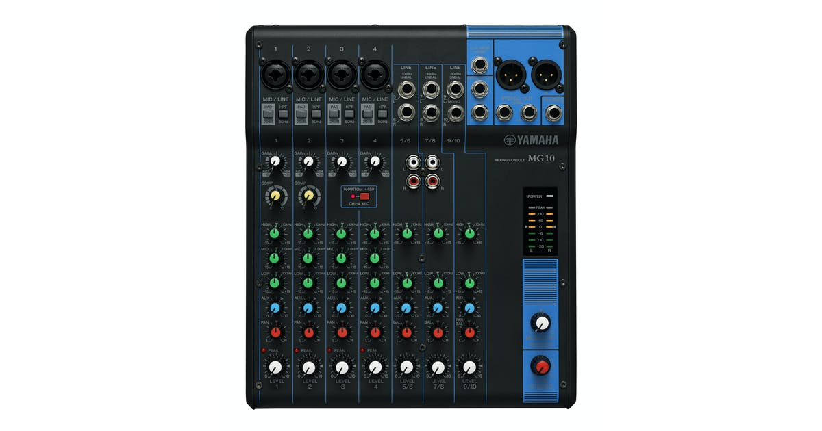yamaha mg10 10 channel mixing desk andertons music co. Black Bedroom Furniture Sets. Home Design Ideas
