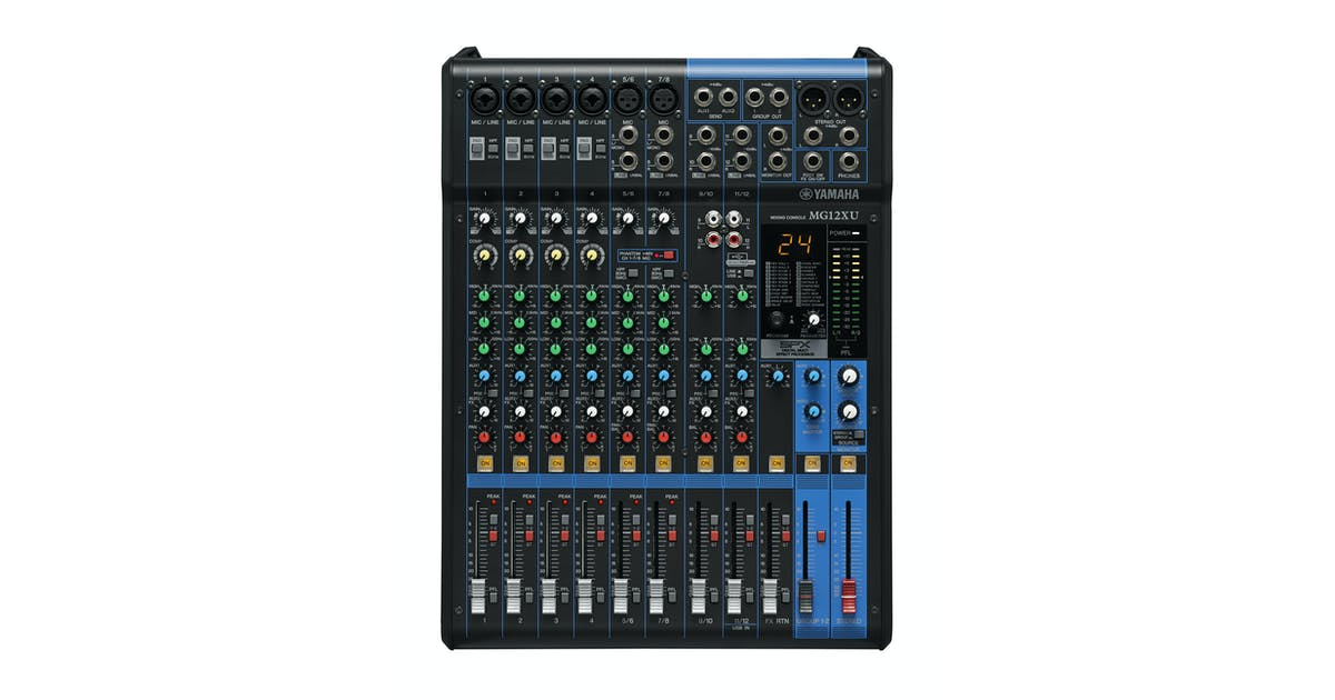 Yamaha MG12XU 12-Channel USB Mixing Desk with FX - Andertons Music Co
