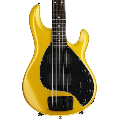 Music Man Stingray 5 bass in Firemist Gold with Rosewood Fretboard