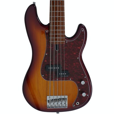 Sire Marcus Miller P5 Alder 5-String Fretless Bass Guitar in Tobacco Sunburst