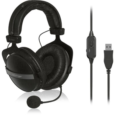 Behringer HLC660U USB Stereo Headphones with Built-In Microphone