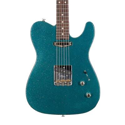 Iconic Guitars Evolution T in Ocean Aqua Flake