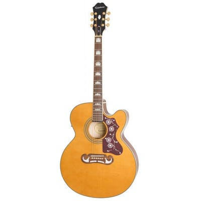 Epiphone J-200 EC Studio Electro Acoustic Guitar in Vintage Natural