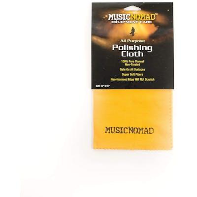 MusicNomad All Purpose Edgeless 100% Pure Flannel Non Treated Polishing Cloth
