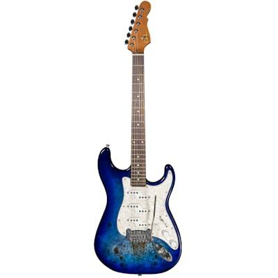 G&L Tribute Comanche Burl Top Electric Guitar in Aqua Burst