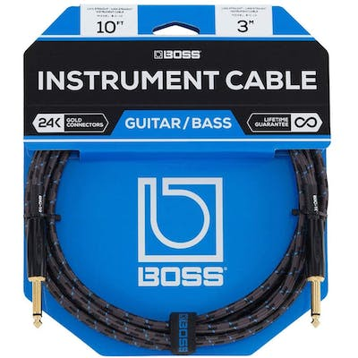 Boss BIC-P10 3 Metre Instrument Cable with Straight Jacks
