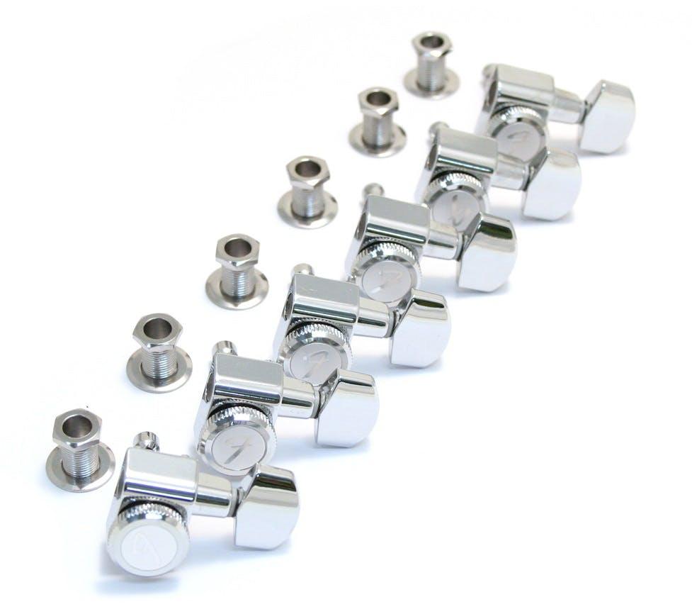 3 per side Schaller Electric Guitar Machine Heads Nickel Locking Tuners