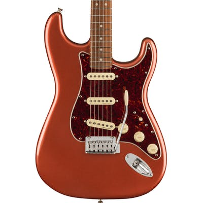 Fender Player Plus Stratocaster Electric Guitar in Aged Candy Apple Red