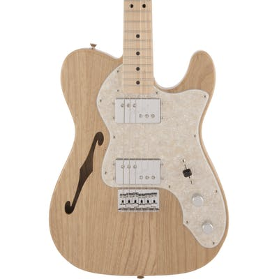 Fender MIJ Traditional '70s Telecaster Thinline Electric Guitar in Natural