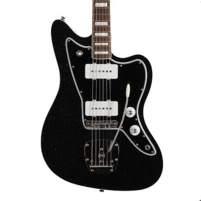 Iconic Guitars Vintage JM Eleganté in Black/Silver Sparkle
