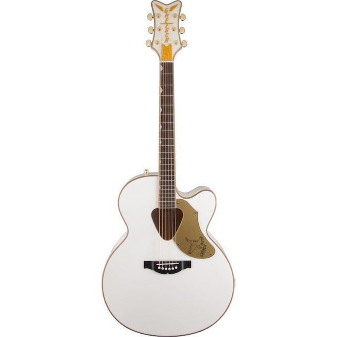 Gretsch Acoustic Guitars >> Gretsch Electromatic G5022cwfe Rancher Falcon Jumbo Guitar White Andertons Music Co