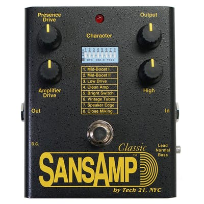 Tech 21 SansAmp Classic Reissued Analogue Modelling Pedal