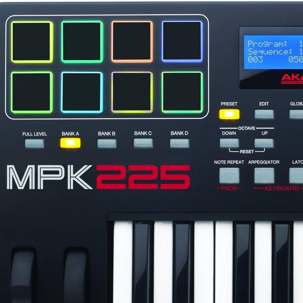 Akai Mpk225 Keyboard Controller With Mpc Pads Andertons Music Co Fender Roland Ready Strat Wiring Diagram