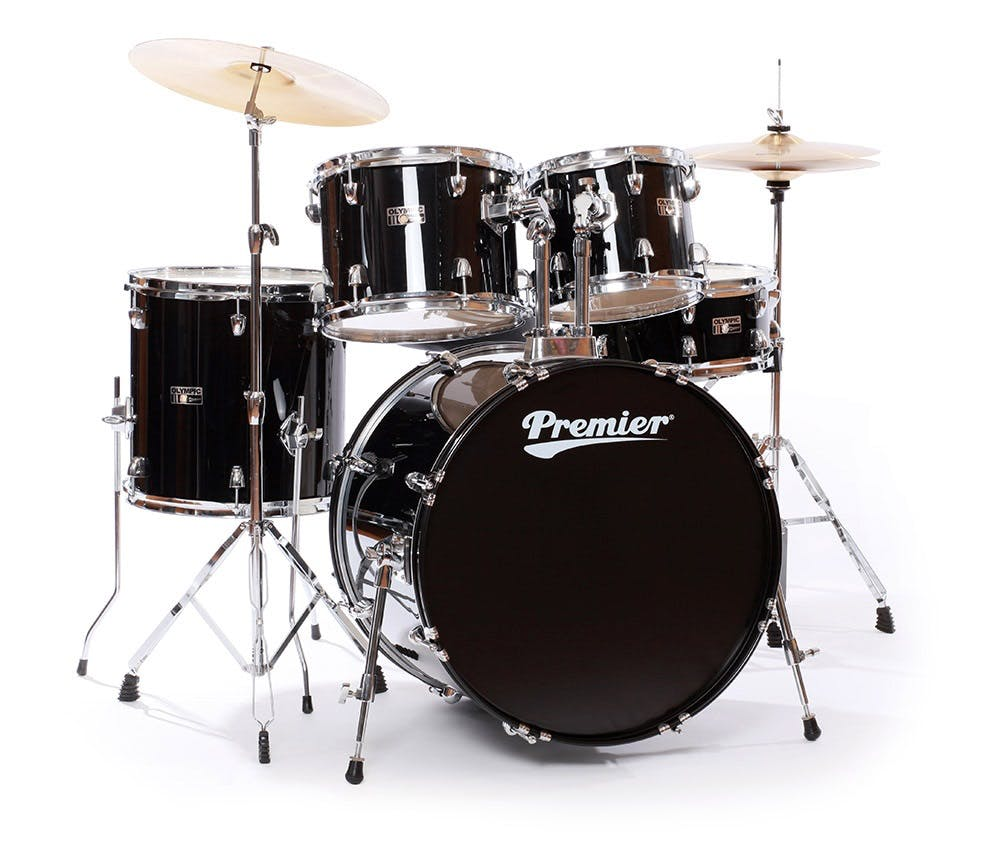 Premier Olympic Stage 22 Complete Drum Kit In Black Piece Set Diagram 9 Peice