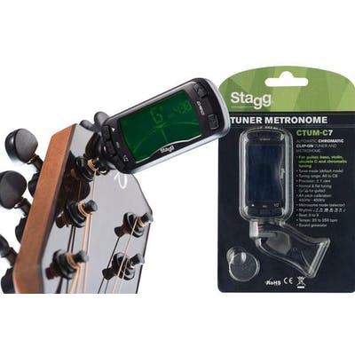 Stagg CTUM-C7 Chromatic Clip-On Tuner and Metronome