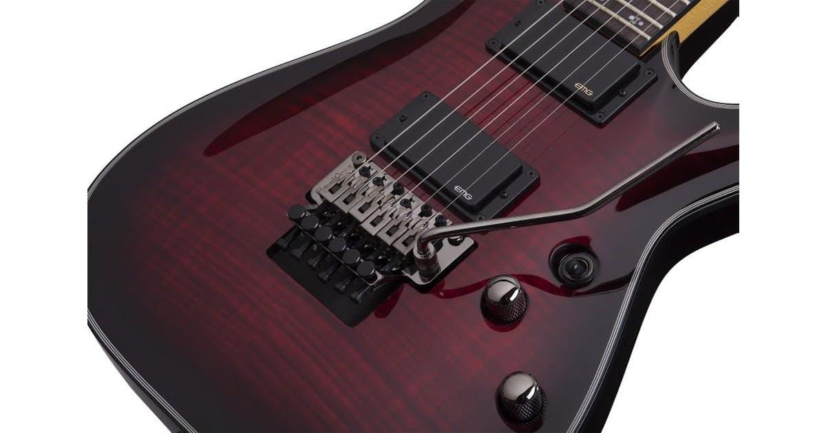 schecter damien elite 6 fr electric guitar in crimson red burst andertons music co. Black Bedroom Furniture Sets. Home Design Ideas