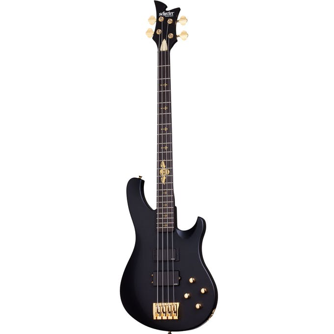Schecter Johnny Christ Bass Guitar in Satin Black - Andertons Music Co