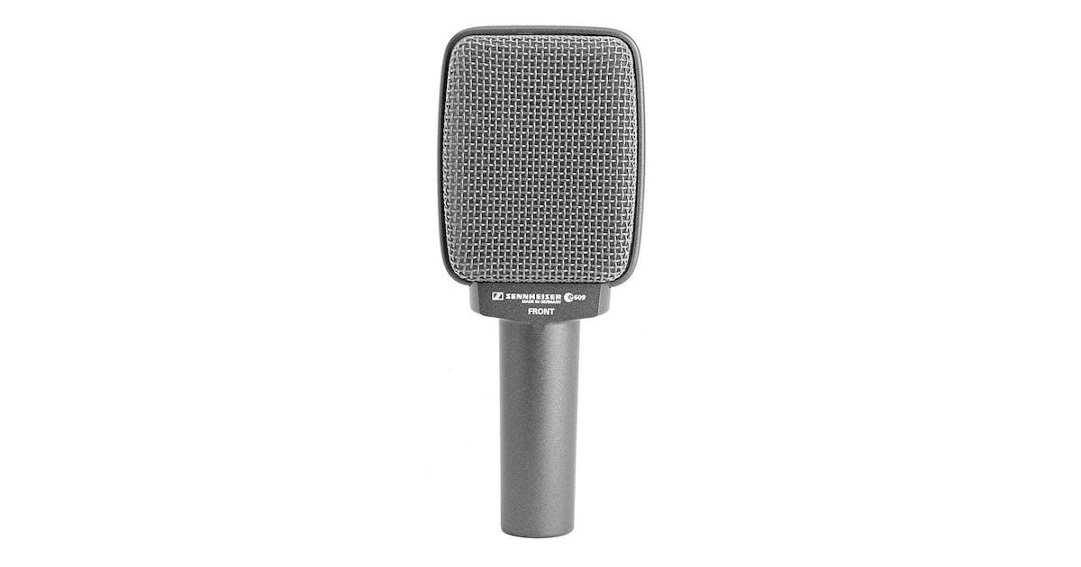 sennheiser e609 dynamic mic in silver for guitar amps brass andertons music co. Black Bedroom Furniture Sets. Home Design Ideas