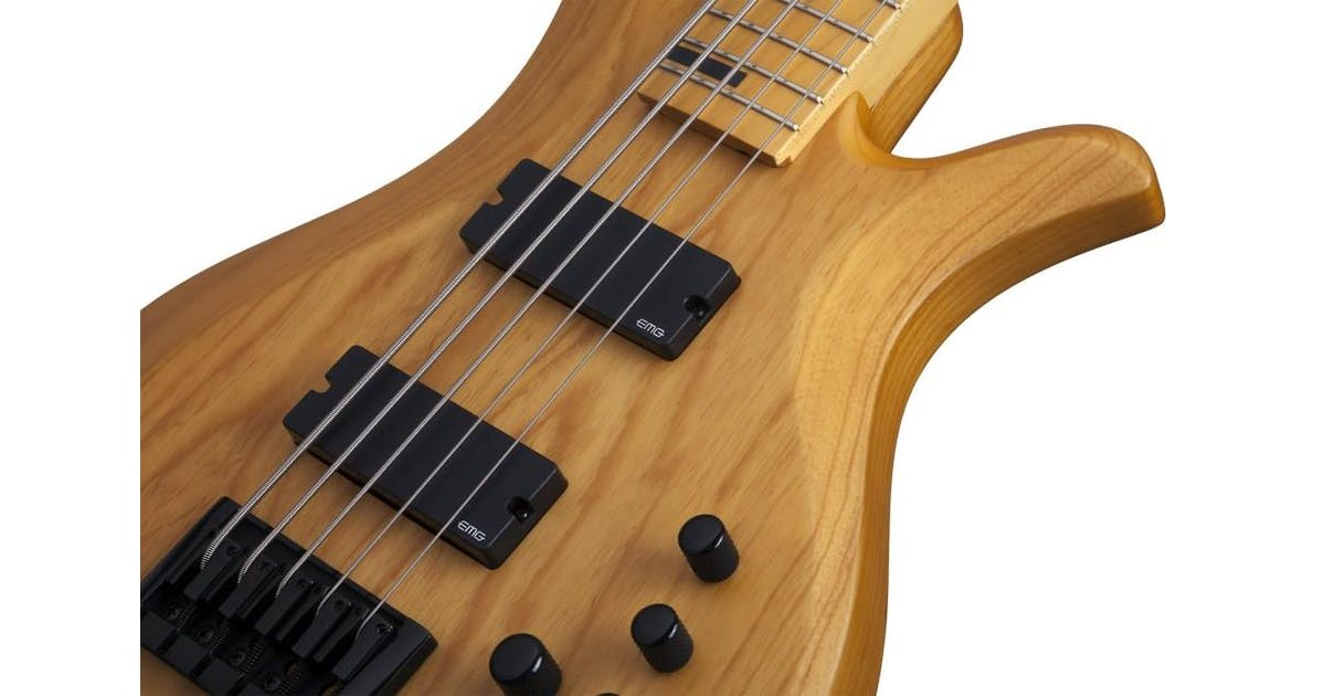 schecter riot session 5 bass guitar in aged natural satin andertons music co. Black Bedroom Furniture Sets. Home Design Ideas