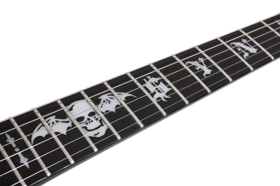 Schecter Synyster Custom in Black with Silver Pinstripes