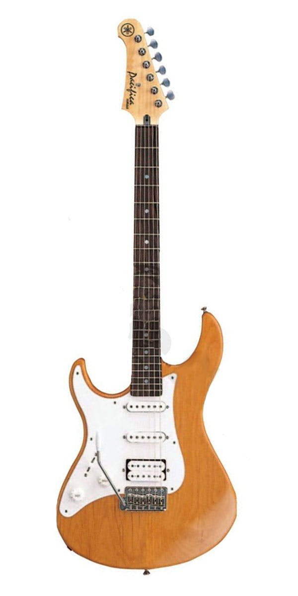 yamaha pacifica. yamaha pacifica 112j left handed electric guitar - yellow natural