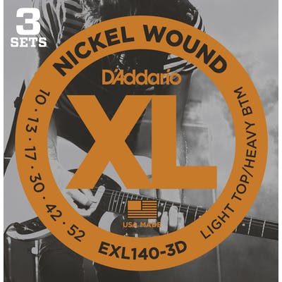 D'Addario XL 10-52 Light Top/Heavy Bottom Set