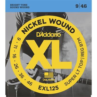 D'Addario XL 9-46 Super Light Top/Regular Bottom Set