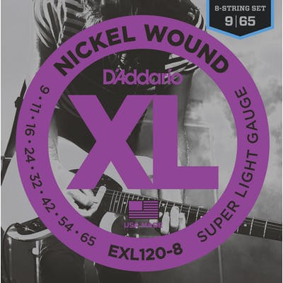 D'addario XL 09-65 Super Light 8 String Set