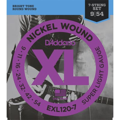 D'addario XL 09-54 Super Light 7 String Set